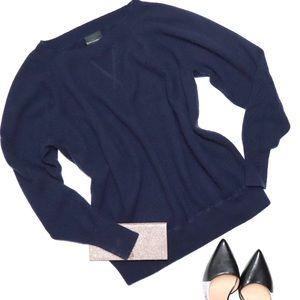 J. CREW Italian Cashmere Crew Neck Sweater Blue XS